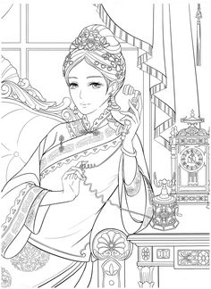 Adult Coloring, Coloring Books, Coloring Pages, Electronic Books, Chinese, Princess Zelda, Portrait, Fictional Characters, Art