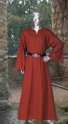 Medieval Wicca Pagan Ritual Robe Handmade Natural Cotton Clothing