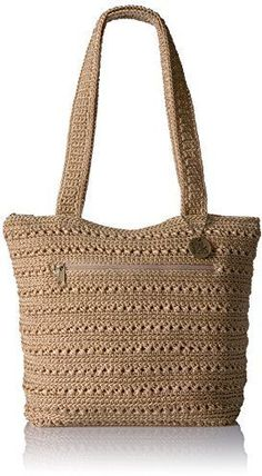 The Sak Riviera Tote, Bamboo Crochet Tote, Crochet Handbags, Hand Crochet, Silver Lake, Nylon Bag, Knitted Bags, Handmade Bags, Purses And Handbags, Ladies Handbags