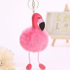 Delicious Cartoon Flamingo Keychain Creative Cute Keyring Pink Brid Sweetie Plush Toys Kawaii Keyring Birthday Gift For Girl Women Toys & Hobbies Plush Keychains