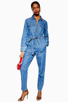 e1c22319bb13 TALL Denim Utility Boiler Suit - Rompers   Jumpsuits - Clothing