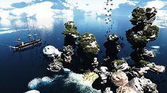 Aberração Geológica #Vue #Ocean #Surreal #3D #Vue