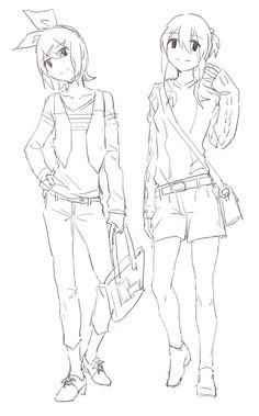 Rin and GUMI by _UL on pixiv or @_UnderL on twitter