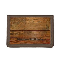 Shop Faux Oiled Wood Plank Personalized Custom Tri-fold Wallet created by cutencomfy. School Readiness, Credit Card Wallet, Tri Fold, Wood Planks, Bamboo Cutting Board, Leather Wallet, Make It Yourself, Wallets, Cards