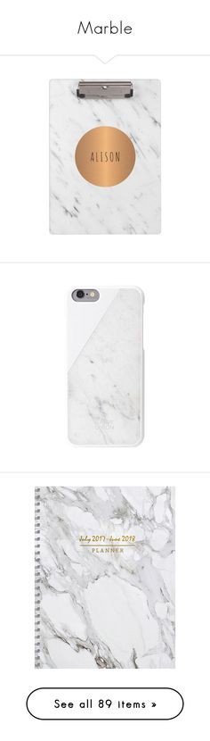 """Marble"" by swimwearlover on Polyvore featuring home, home decor, copper home decor, geometric home decor, personalized home decor, metallic home decor, white marble home decor, accessories, tech accessories and white"