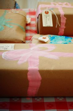 painted bow+craft paper