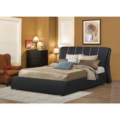 LYKE Home Katrina Black Full Platform Bed