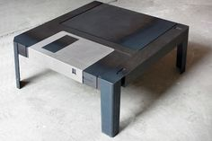 """Berlin-based design and architecture duo Neulant van Exel have wonderfully made a coffee table that resembles the 3.5"""" floppy disk."""