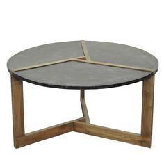 Oslo Metal Plate Coffee Table Natural Gray Base, Rustic Gray/9200004 132