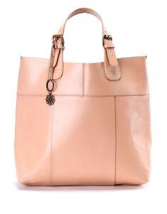 Shoulder Bag rosa cipria in pelle