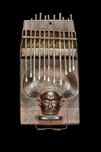 Chokwe Sanza Cisanji wa Cihongondu nyi canda mbaci - This is a superb Chokwe sanza, a fine example of the type of metal-tined variety of musical instrument that emerged in the Chokwe cultural area more than a thousand years ago.