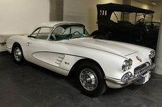 A 1960 Chevrolet Corvette convertible on display at the LeMay America's Car Museum.