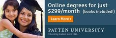 Don't let expensive tuition keep you from pursuing your academic goals. You can receive your online degree with Patten University for just $299/month for undergraduate studies and $475/month for graduate studies through your Abenity Discount Program! http://discounts.abenity.com/perks/offer/1:45347