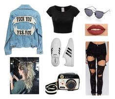 """Untitled #369"" by beliebergirl2698 ❤ liked on Polyvore featuring adidas and Betsey Johnson"