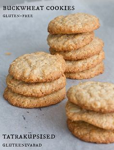 Gluten-free almond and buckwheat cookies by Pille @ Nami-Nami