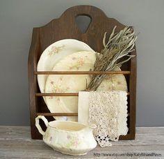 vintage rustic wood display...  Like, repin, share Thanks!