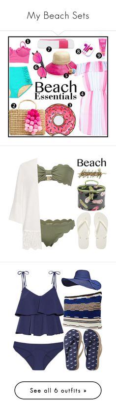 """My Beach Sets"" by swimwearlover ❤ liked on Polyvore featuring Boohoo, Kassatex, Nannacay, PhunkeeTree, Sophie Anderson, Westward Leaning, Marysia Swim, Havaianas, Picnic at Ascot and Banana Republic"