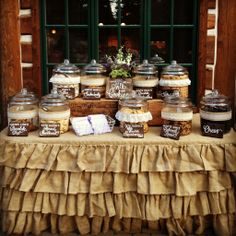 Wedding Food Bake your favorite cookies, or ask your friends to bring their favorite cookies, and set up a cookie bar for your next party. - 10 creative food bar ideas that will make your next party a hit! Cookie Bar Party, Cookie Bar Wedding, Cookie Buffet, Buffet Dessert, Wedding Cookies, Wedding Desserts, Dessert Bars, Cookie Bars, Wedding Snack Bar
