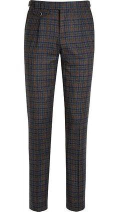 Pre-Order your Suitsupply Fall 2016 Trousers. Mens Plaid Pants, Mens Dress Pants, Tartan Pants, Man Pants, Mature Mens Fashion, Suit Fashion, Fashion Outfits, Nigerian Men Fashion, Blue Trousers