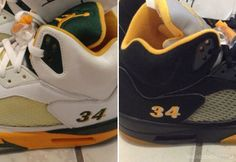a54b1a55067a Air Jordan V - Ray Allen Seattle Sonics PE Set on eBay - SneakerNews.com