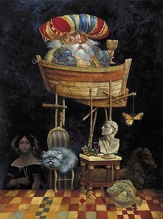 James C. Christensen - MONARCH OF ALL HE SURVEYS -  LIMITED EDITION CANVAS Published by the Greenwich Workshop