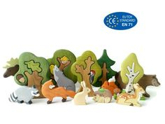 BIG SET Animal toys Forest animals + Trees Nature table Waldorf toys Wooden toys Animal figures Toys for kids Spielzeug BIG SET Wooden woodland animals toys + Trees Nature table Waldorf toys Wooden toys Animal figures Toys for kids Wooden Animal Toys, Wood Toys, Forest Animals, Farm Animals, Wild Animals, Pet Toys, Kids Toys, Animal Set, Animals Tattoo