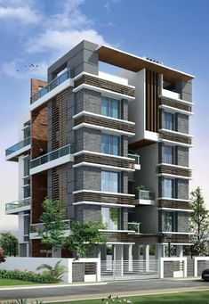 Four West in baner is the bestever apartments at baner,Pune - Architecture Modern Architecture Design, Facade Design, Facade Architecture, Residential Architecture, Exterior Design, Building Facade, Building Design, House Elevation, Front Elevation