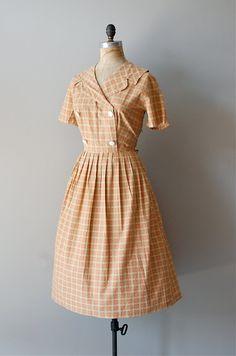 1950s dress / 50s dress / Summer Snowflake. $114.00, via Etsy.