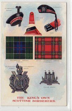 KING'S OWN SCOTTISH BORDERERS: Military postcard (C12622) Scotland Kilt, Scotland Castles, Royal Stewart Tartan, British Uniforms, Military Insignia, Highlanders, Picture Postcards, British Army, Military History