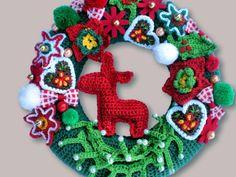 Crochet Pattern  wreath pattern  Crochet van Petrapatterns op Etsy