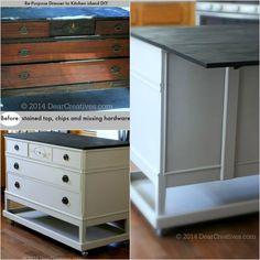 Re_Purposed Dresser to Kitchen Island