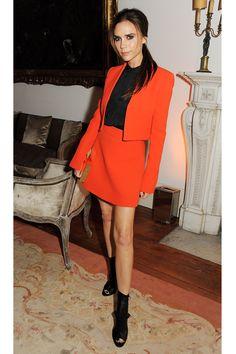 "November 2012, Victoria Beckham at a dinner for Valentino Garavani, ""Valentino: Master Of Couture"" exhibition in London"