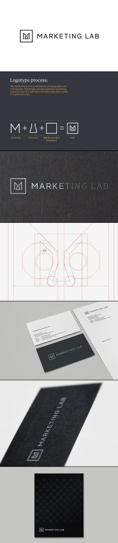 Marketing Lab / logo / identity / brand / package / crisp / professional / rich / luxury / black and white