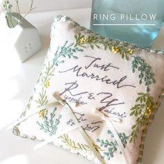 Diy Wedding Ring, Ring Pillow Wedding, Handmade Wedding, Budget Wedding, Wedding Planning, Ring Bearer Pillows, Ring Pillows, Pillow Embroidery, Ribbon Embroidery