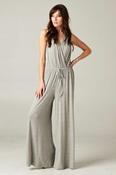 breezy taupe jumpsuit - classy and flattering