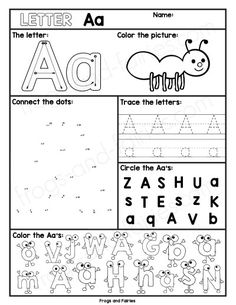 Alphabet Letter Worksheets A-Z - Frogs and Fairies
