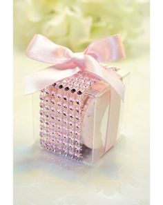 Wedding Favors, French Macaron, Favor Boxes - Set of 30 Rhinestone box - Bridal or Wedding Favors