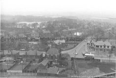 Black and white photograph showing Taylor Park and Dunriding Lane area, MSE - The Frank Sheen Collection 2 - Photographs showing various buildings, events and housing in St. 4 - Photographs showing areas in St. Saint Helens, The Old Days, Over The Years, Liverpool, Paris Skyline, Old Things, England, Black And White, Park