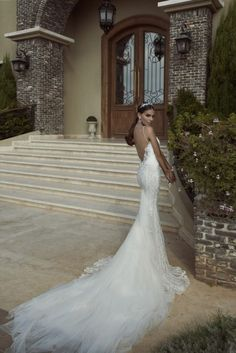 Fabulously Unique Wedding Dresses by Galia Lahav's Collection 2014, the amazing back interest fishtail dress with a long tulle tail