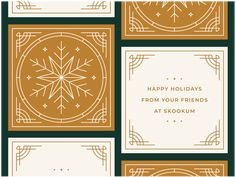 Skookum Holiday Cards 2018 designed by Ryan Prudhomme for Skookum. Connect with them on Dribbble; the global community for designers and creative professionals. Corporate Christmas Cards, Company Christmas Cards, Christmas Service, Xmas Cards, Christmas 2019, Menu Illustration, Mailer Design, Christmas Typography, Christmas Design