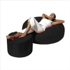 "Amazon.com: Fatboy® 47"" Round Lounge Large Black: Home & Kitchen"