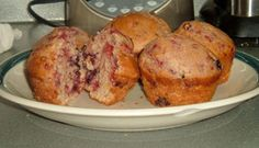 Recette Muffin aux framboises et aux bleuets - Recettes du Québec