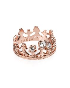 ARIEL | Tiara ring - Rose Gold | New Arrivals | Ted Baker. This Princess needs this!!