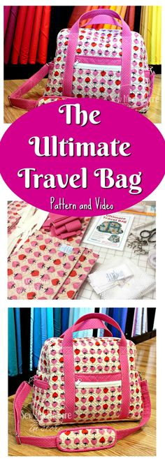 Have you made the Ultimate Travel Bag yet? Grab your pattern and watch the video and get sewing! #sewing #travel #handmade