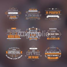life quotes set