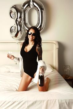 great idea for a 30 year old birthday shoot, that isn't a cake smash, but something way more sexy and sophisticated!