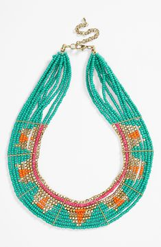 This colorful geometric bead necklace just screams summer. @nordstrom #nordstrom