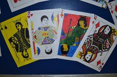 self portrait playing cards