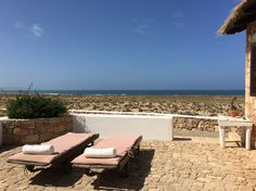 Sun chairs Spinguera sea view Cape Verde