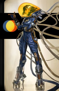 Blue Spacesuit and Red Spacesuit - by Fred Augis More from this series on my…